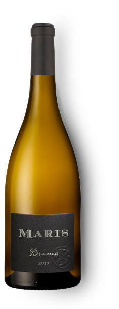 Bottle of Brama white wine