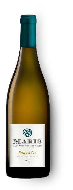 Bottle of Pays d'Oc blanc white wine